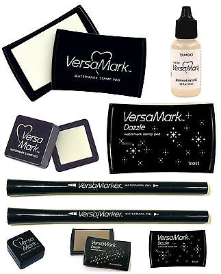 VERSAMARK EMBOSSING INK PAD LARGE or SMALL. PEN or REFILL AVAILABLE BY - Embossing Ink Refill