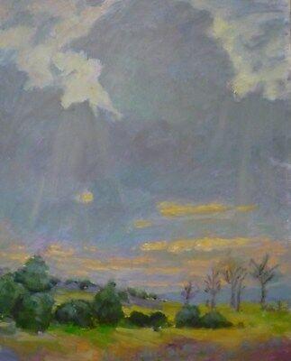 Hamilton 20 Light - oil painting Light Rays landscape P.Hamilton original 16x20
