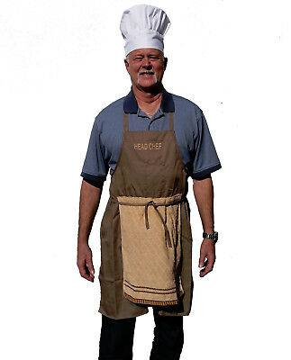 DELUXE HEAD CHEF FATHER'S DAY PRANK GAG WEENIE APRON FUNNY BBQ INCLUDES HAT GAG!](Funny Chef Costumes)