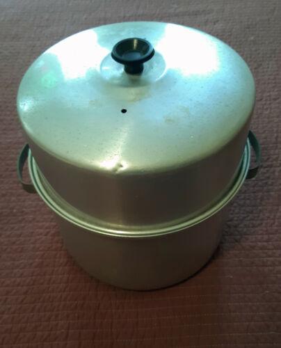 Vintage Aluminum Baby Bottle Sterilizer Pot with Rack