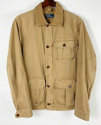 Polo Ralph Lauren Medium Khaki Tan Military Utility Fishing Field Jacket Coat