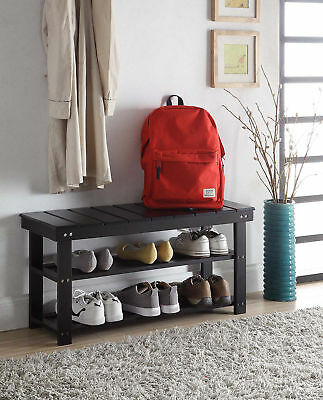 Mudroom Bench - Oxford Utility Mudroom Bench 203300BL, Black Finish