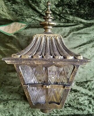 Vintage NOS Diamond F Antique Gold Lamp Post Light Fixture