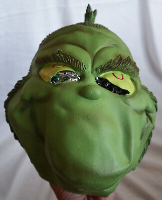 Official Dr Seuss GRINCH Rubber Mask Costume Cosplay Prop Adult Mask 1997  - Dr Seuss Masks