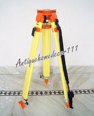 Yellow Aluminum Dual Lock Heavy Tripod Survey Contractor Laser Auto Level