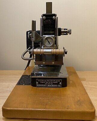 Kingsley Machine - M-60 Two Line Machine - Hot Foil Stamping Machine - Read