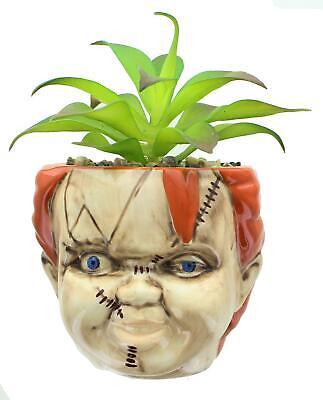 Niños Jugar Chucky Cara Grande Cerámica Maceta