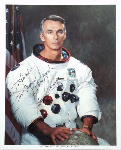 Apollo 17 Commander Gene Cernan Signed NASA Lithograph Last MoonWalker Authentic