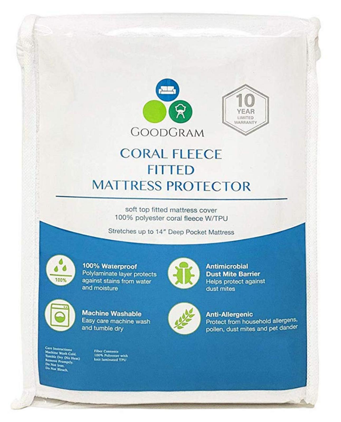 100% Waterproof Deep Pocket Terry Mattress Covers/Protector