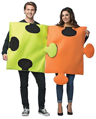 Couples Costumes Puzzle Pieces Adult Poly Foam Tunic Halloween Rasta Imposta