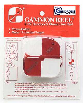 NEW GAMMON REEL FOR PLUMB BOB, SURVEYING, RETRACTABLE STRING