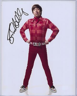 Simon Helberg Auto Autograph Signed 8X10 Photo Global Authentics Gai