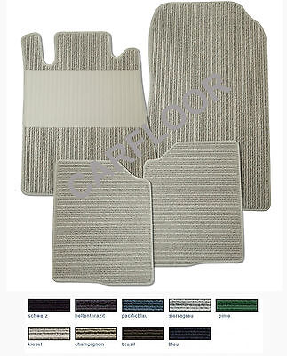 Für Mercedes S-Klasse W140 SE kurz Bj. 3.91-8.98 Fußmatten Rips hellbeige