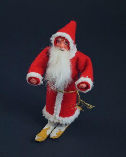 Vintage Santa - Belsnickle on Ski - Nikolaus - Candy Container  (# 12857)