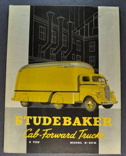 1940 Studebaker Cab Forward COE 2-Ton Truck Brochure Folder Excellent Original