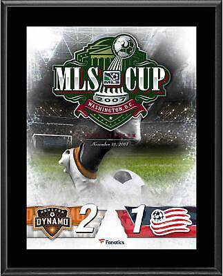 Houston Dynamo vs. New England Revolution 2007 MLS Cup 10.5x13 Sublimated Plaque
