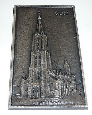 Ulmer Münster große Plakette JG Monogramm J.G. Jörg Großhaus Gotische Kirche Ulm