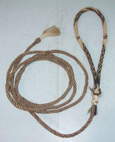 Hitched Horsehair Bosal Hackamore w/ Mecate Rein w/ Tassel Used Horse Tack