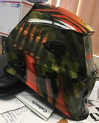Gbl-solar Auto Darkening Weldinggrinding Helmet Mask Hood W 4 Optical Sensors