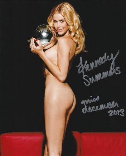 KENNEDY SUMMERS 2014 PLAYBOY PLAYMATE OF THE YEAR SEXY SIGNED PHOTO  (IN3)