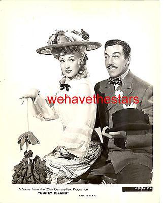Vintage Betty Grable Cesar Romero CONEY ISLAND '43 Publicity Portrait
