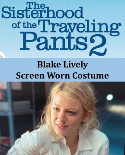 SCREEN WORN Blake Lively Costume Wardrobe Sisterhood Traveling Pants 2 COA Rare!