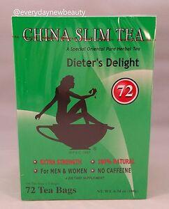 China Slim Tea Dieter's Delight extra srength 72 Tea Bags  Made in USA