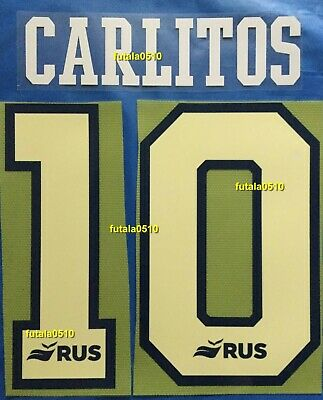 CARLITOS # 10 BOCA JUNIORS 2020 HOME NAME AND NUMBER SET