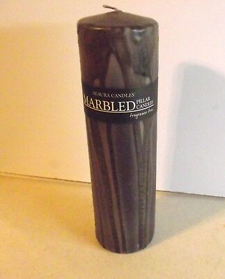 Northern Lights Alaura Marbled Unfragranced Pillar Candle 3x10 Sand (Northern Pillar Candle)