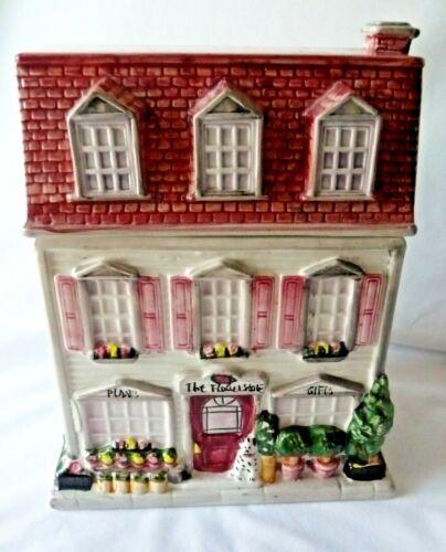 The Flower Store Cookie Jar Sherwood Brands 1999 Ceramic Victorian House