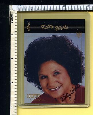 KITTY WELLS Autographed Trading Card; 1992 ACM Country Classics #63