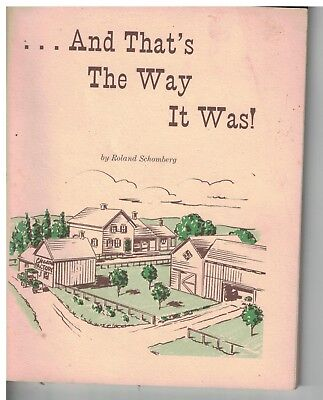 1986 booklet And that's the way it was! Rural Sheboygan County WI stories