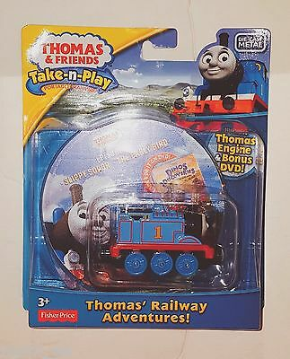 Thomas & Friends Take n Play Railway Die Cast Metal Engine 2 Episode DVD Set