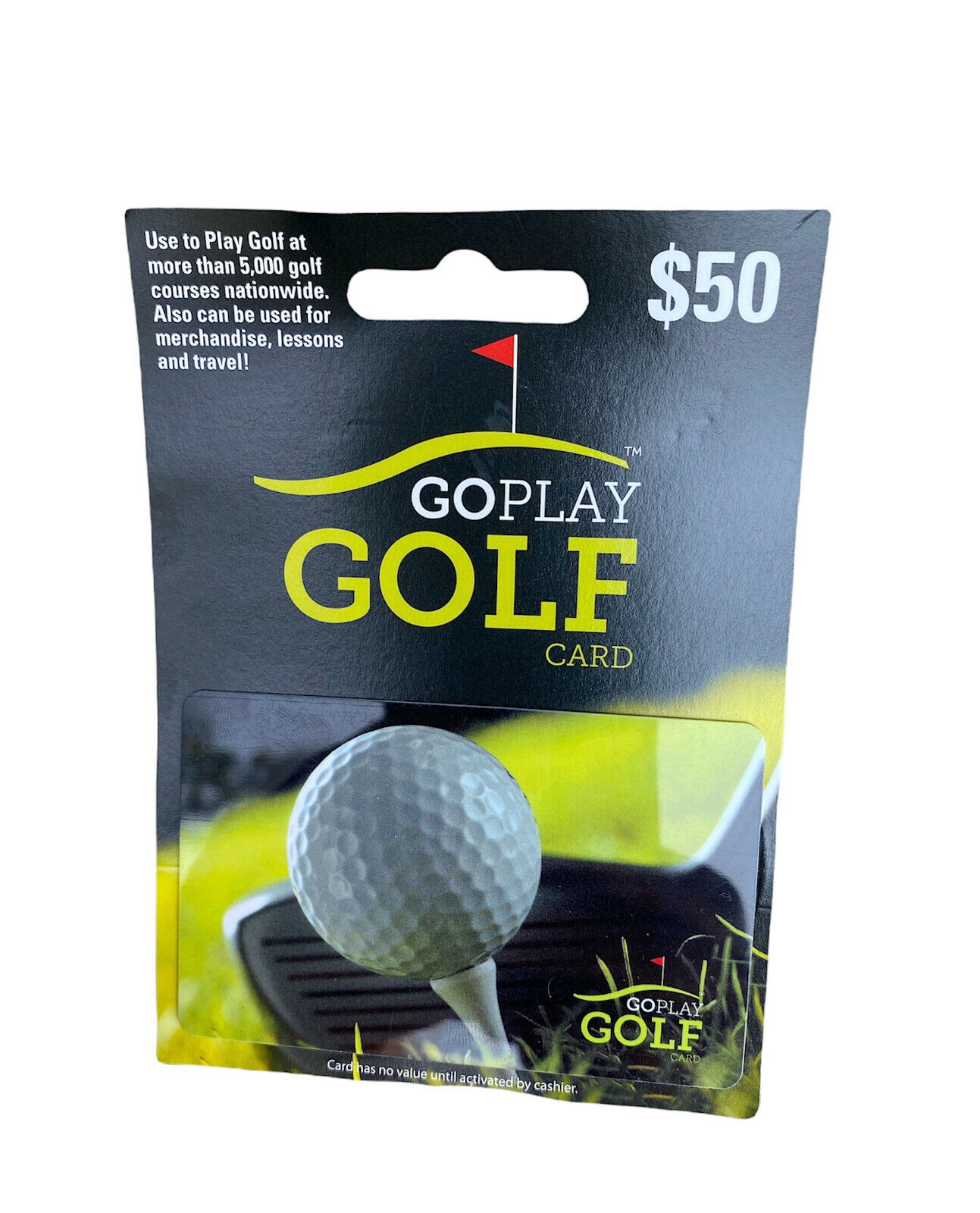 Go Play Golf Gift Card 50 Value New Unused - $40.00
