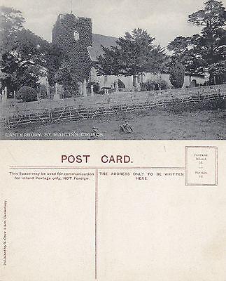 1920's St MARTINS CHURCH CANTERBURY KENT UNUSED POSTCARD