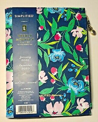 2020 Emily Ley Simplified Refillable 2020 Planner Notebook Cover 5.5x8.5 Floral