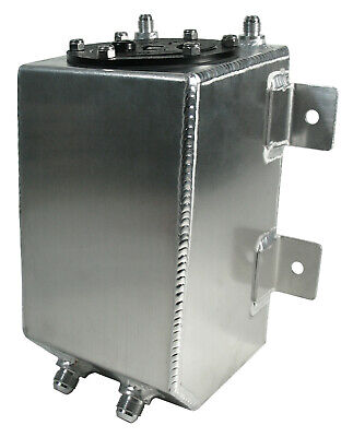 NEW 1 GALLON ALUMINUM FUEL CELL WITH SAFETY FOAM,DRAG RACE STREET,STRIP GAS TANK ()