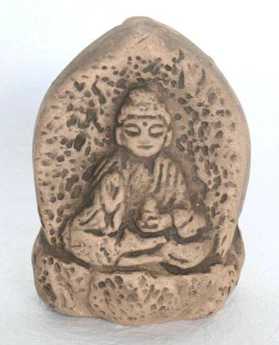 Japanese Clay Bell Buddha Yakushi-ji Temple Handmade Lucky Charm Vintage