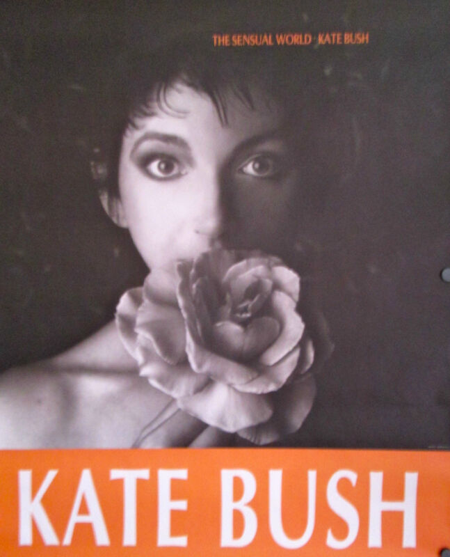 "Kate Bush 1989 The Sensual World Rare ORIGINAL Jumbo Promo Poster 45"" x 36"""