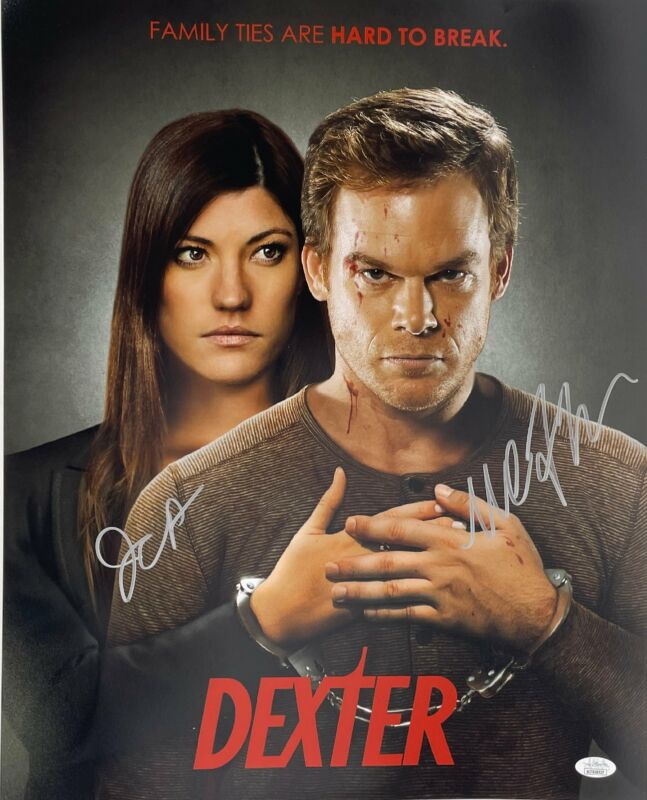 Michael C. Hall & Jennifer Carpenter Autograph 16x20 Photo Dexter Signed JSA COA