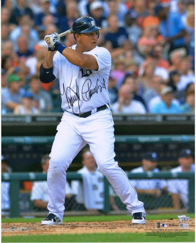 "Miguel Cabrera Detroit Tigers Autographed 16"" X 20"" Hitting Photograph"