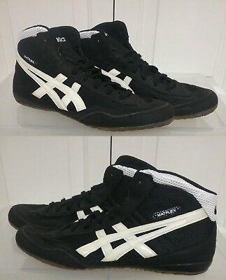 5c61caed02c Asics Men s Wrestling Shoes Matflex Black White Lace Up JY701 Sz 12