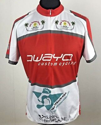 ed2646f32f493 Men s OWAYO Custom Cycling Shirt Size XXL Germany Top Red Jersey Short  Sleeve