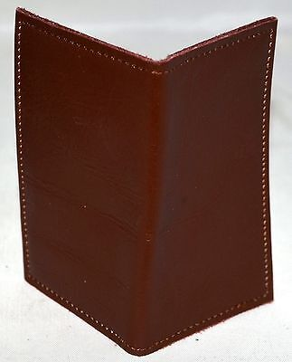 New Handmade Brown Leather Business Card Or Credit Cardholder Nwot