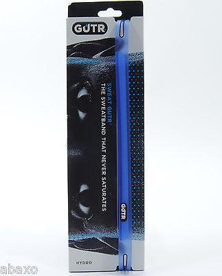 SWEAT GUTR Smoke Sweatband / Headband Bike Cycling Blue