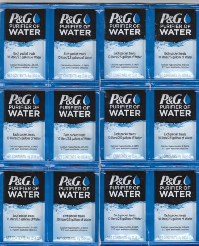 P&G Purifier of Water 12-Packets Expiration Date: October 2023