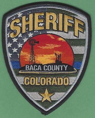BACA COUNTY SHERIFF COLORADO POLICE PATCH NEW STYLE
