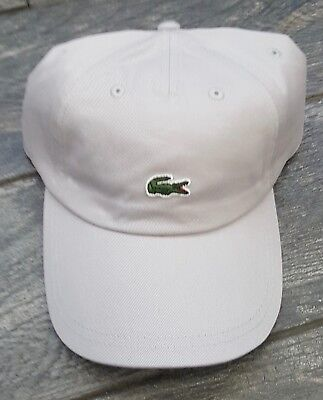 3a0fab6b2bd LACOSTE MINI CROC LOGO BASEBALL ADJUSTABLE DAD HAT CAP NIMBUS GRAY 100% auth