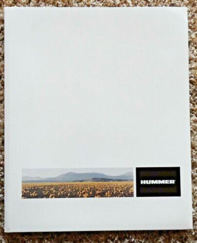 2002 Hummer H 2 Brochure