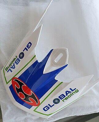 Visera para casco descenso Kabuto IXA, blanco y azul, Downhill Helmet Visor